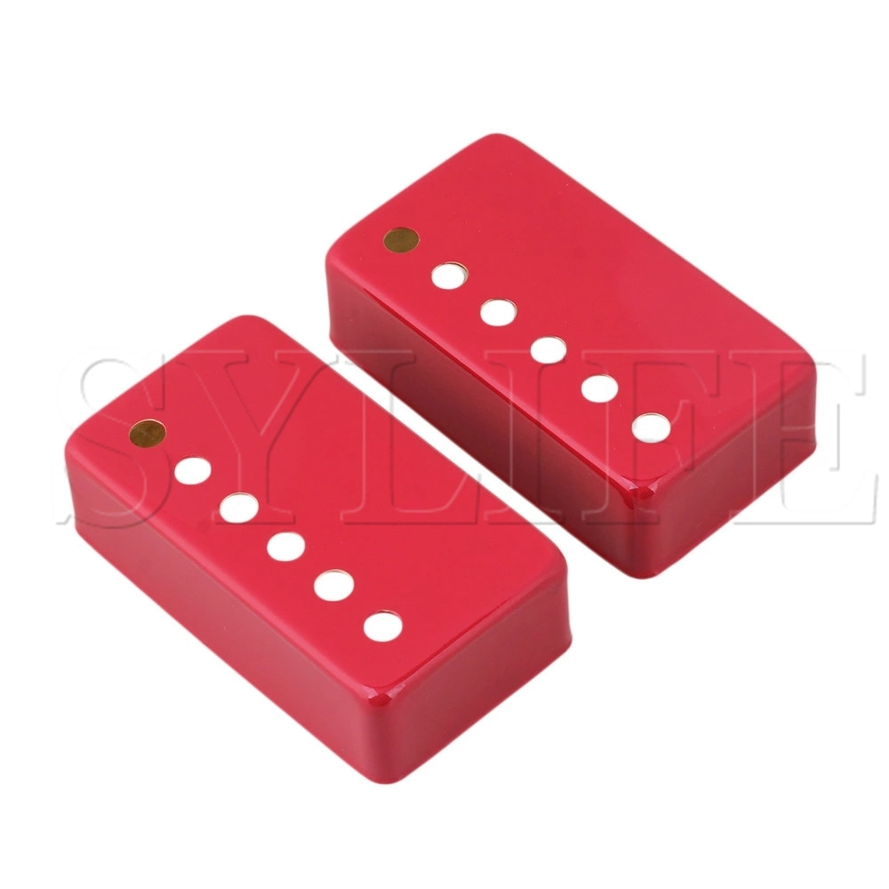 Красный металлический Humbucker шеи и моста электрогитары пикап Чехлы Набор из 2