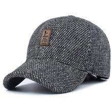 2019 브랜드 야구 모자 겨울 아빠 모자 따뜻한 두꺼운 코 튼 snapback 모자 귀 보호 모자 남자에 대 한 장착