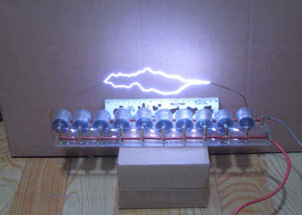 Generador de impulsos de alto voltaje de 10 grados Marx/voltaje de impulso/generador de alto voltaje Marx kit de bobina Tesla DIY