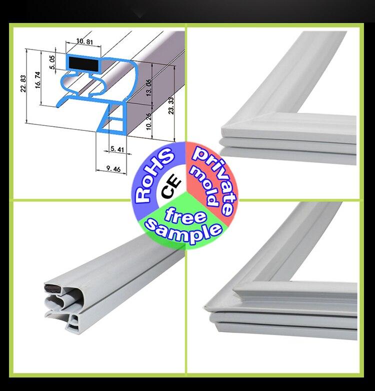 Congelador comercial/gabinete de vidrio/gabinete de desinfección cinta de sellado protección del medio ambiente y preservación de alta calidad