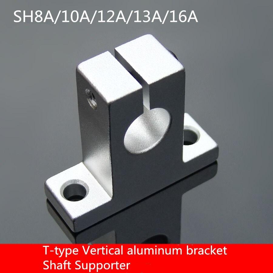 1 Uds SC030 SH8A/10A/12A/13A/16at-tipo Vertical de aluminio soporte de eje de soporte de cojinete de marco fijo tornillo de barra de asiento fijo