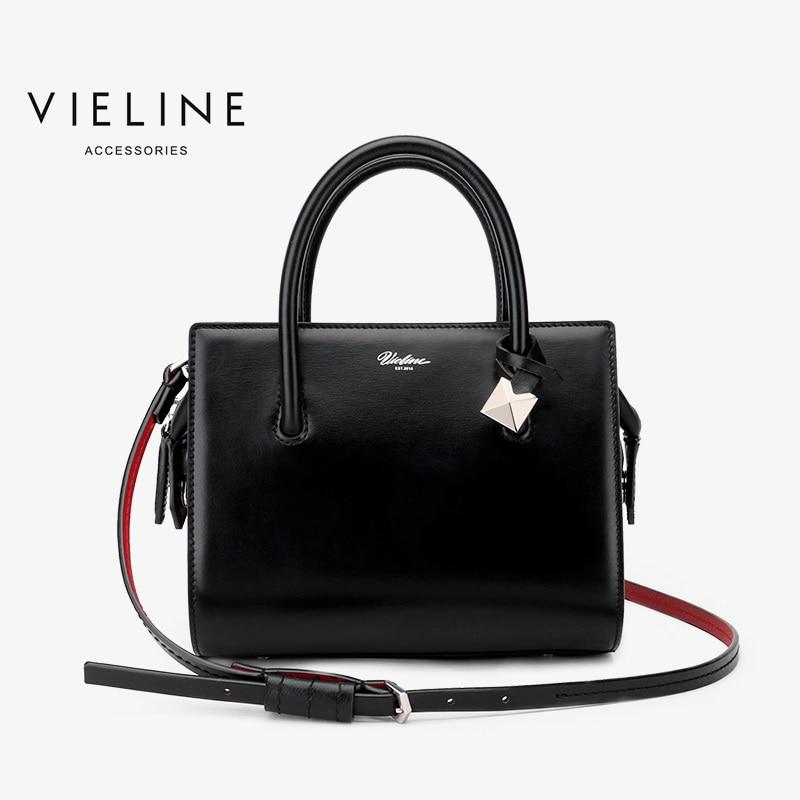 Viline-حقيبة حمل من الجلد الطبيعي للنساء ، حقيبة حمل من جلد البقر ، حقيبة كتف كلاسيكية من بوسطن ، ماركة مصممة
