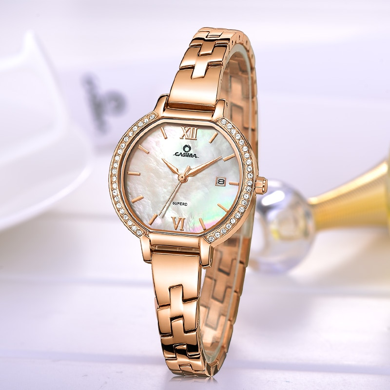 CASIMA Brand Women Watches Ladies Luxury Waterproof Fashion Casual Rose Gold Bracelet Quartz Wristwatches Clock Relogio Feminino enlarge