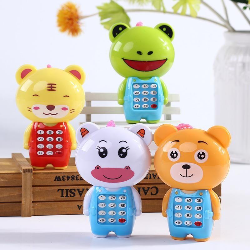 Juguete electrónico móvil Musical Mini bonito teléfono para niños juguete educación temprana dibujos animados teléfono móvil juguetes para bebés