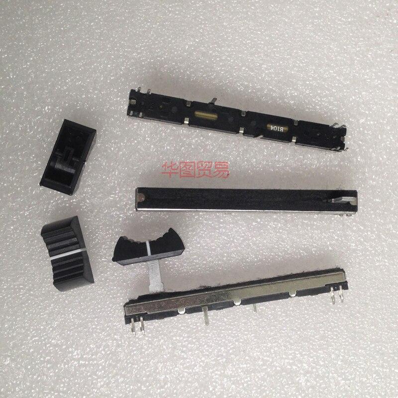 1 шт. 75 мм черный направляющий потенциометр фейдер A20K B100K/миксер стерео фейдер A203 B104/он может заменить для Panasonic фейдер