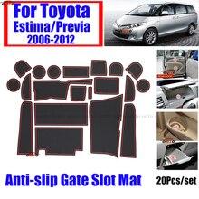 Housse de tapis antiglisse en Silicone   20 pièces/ensemble pour TOYOTA ESTIMA/Previa 2006-2012 voiture, couvre-tapis de protection pour Auto, tapis de coussin 3 couleurs