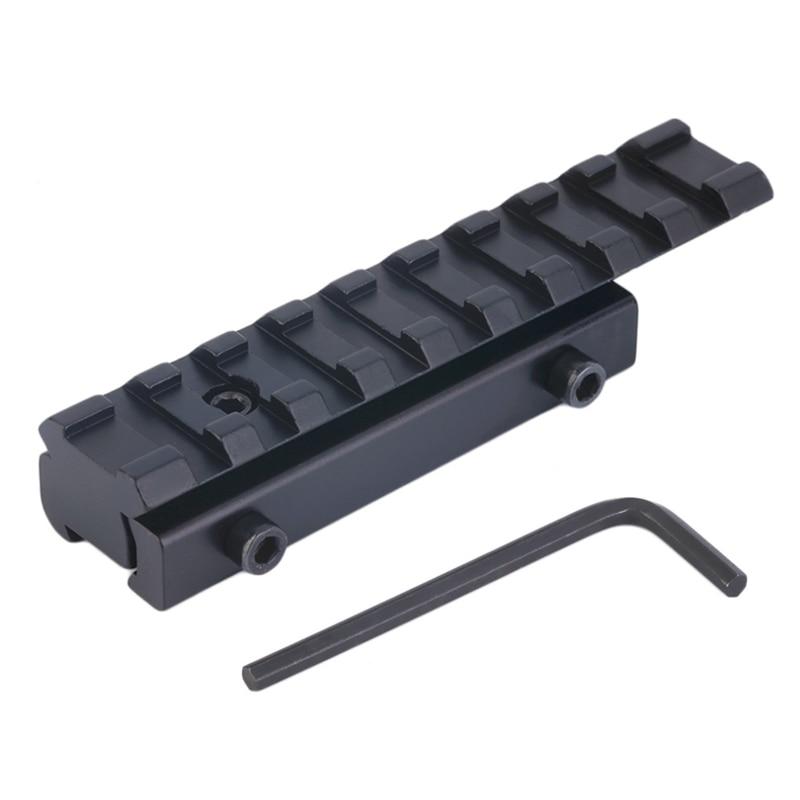 Adaptador de montaje en Riel, Base de riel, adaptador de montaje en riel ajustable táctico de alta calidad de 11mm a 20mm