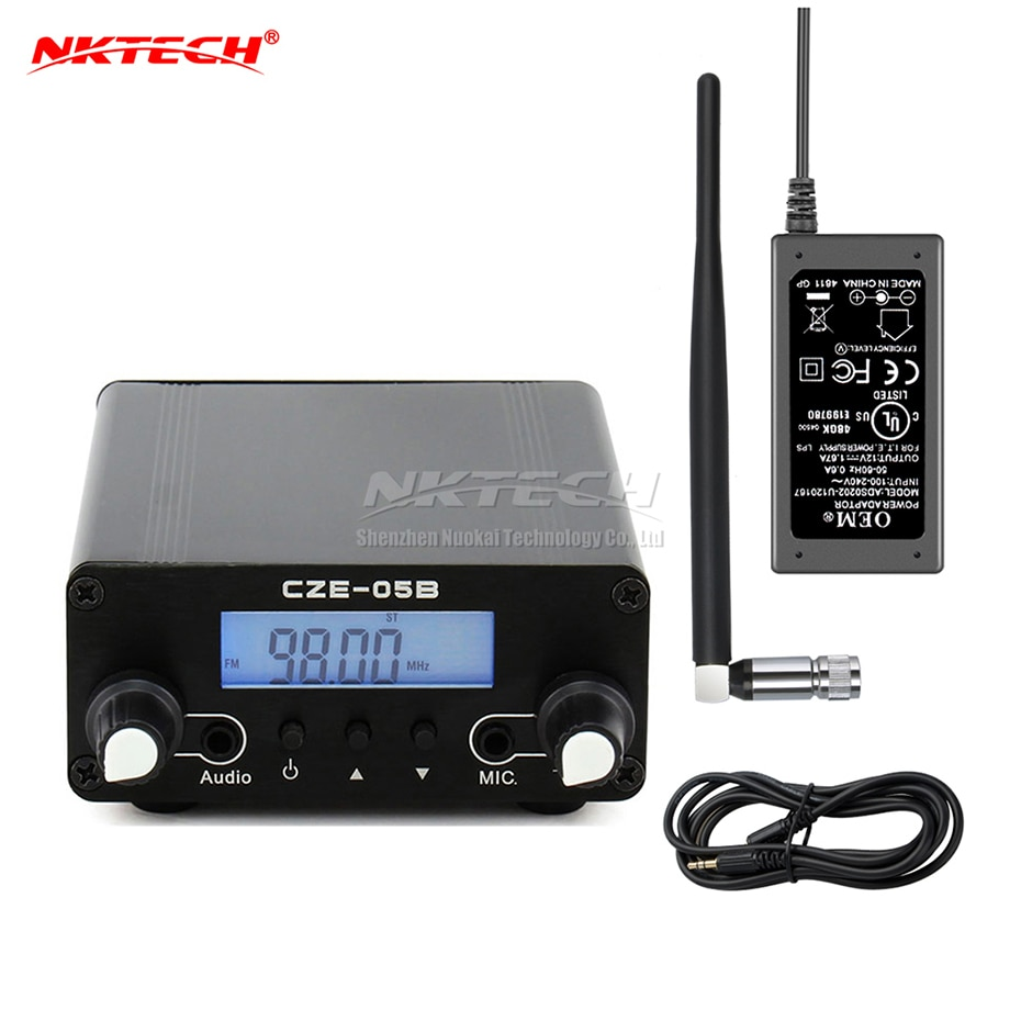 NKTECH FM transmitter FMU CZE-05B 100mW/500mW 0.5W 76-108Mhz Home Dual Mode Long Range Stereo FM Transmitter