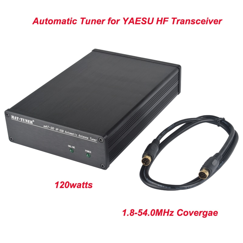 Esteira-30 hf ssb 1.8-54.0 mhz 0.1-120 watt sintonizador automático hf para yaesu hf transceptor FC-30,FC-40,FC-50, ft-100 FT-857D FT-897D/450d