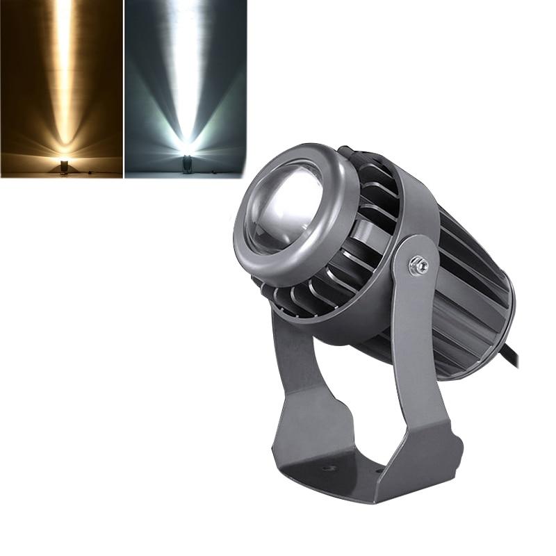 8 Uds luz LED para jardín 3W/10W DC24V 12V AC220V 110V gris Shell reflectores estrecha haz de luz de la lámpara de paisaje de exterior