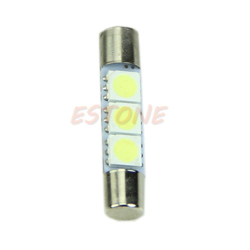 1 ud. T6 3-SMD 5050 bombillas LED blancas para parasol para coche luces fusibles de espejo de tocador dropshipping