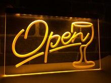 LB536-komut dosyası açık cam kokteyller Bar LED Neon işık burcu ev dekor el sanatları