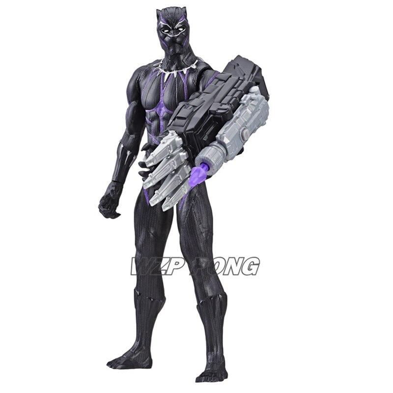 Vengadores Endgame muñecos de pantera negros juguete PVC superhéroe voces habla inglés conjunto movible MODELO DE figura de acción Juguetes