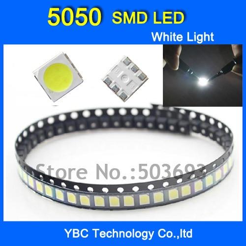5050 SMD LED 1000pcs/lot Ultra Bright White Color Light  Diode Wholesale