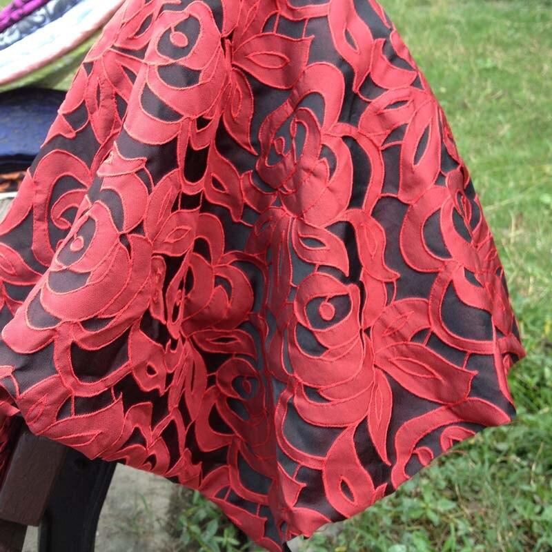 Tela de brocado Jacquard de vino suave para vestido, ropa de boda Africana Diy, Material de mosaico de costura, tela de tela Tecido