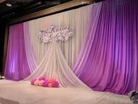 lilac secret purple wedding backdrop stage curtain wedding decoration