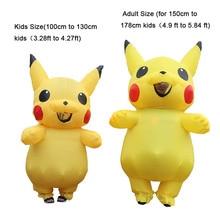 Inflatable Pikachu Costumes Pokemon Halloween Cosplay Carnival Pokemon Mascot Costume Halloween Costumes for Kids Adults Mascot