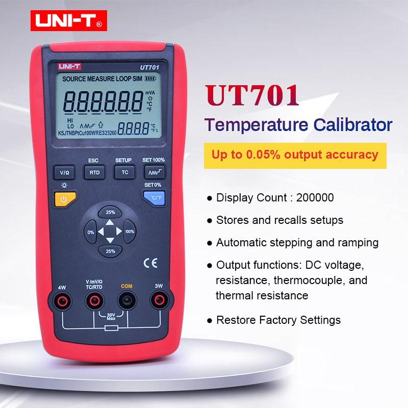 UNI-T UT701 thermocouple temperature calibrator output voltage / Single Function Temperature Calibrator