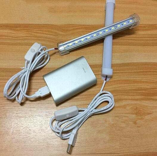 USB LED Rigid Bar Lights DC 5V 33CM Portable Hard LED Strip Lamp With Switch Night School Reading Book Desk Lighting Bulb