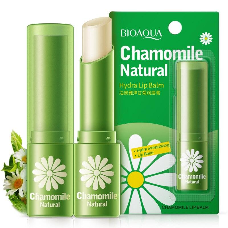 Bálsamo labial hidratante de Manzanilla, crisantemo puro, reparación incolora, lápiz labial nutriente, cosméticos para el cuidado de los labios, 1 unidad