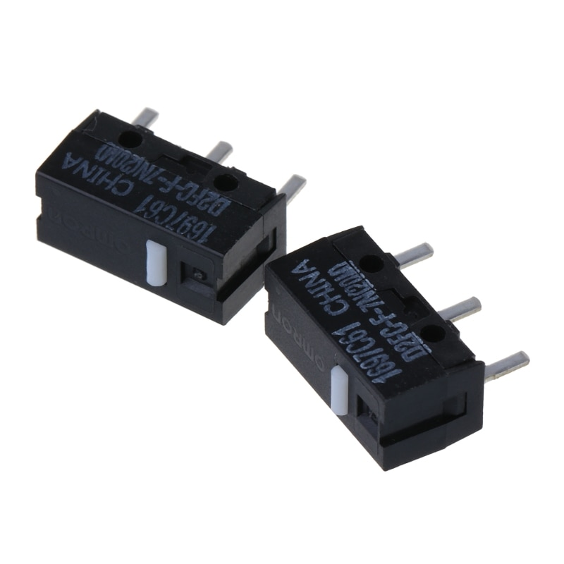 2Pcs Original OMRON Mouse Micro Switch D2FC-F-7N 20m for Logitech RAZER omron mouse micro switch d2f f 3 7 button suitable for 10m 20m 50m steelseries sensei 310 g304 g305 g602 g900 g903 free shipping