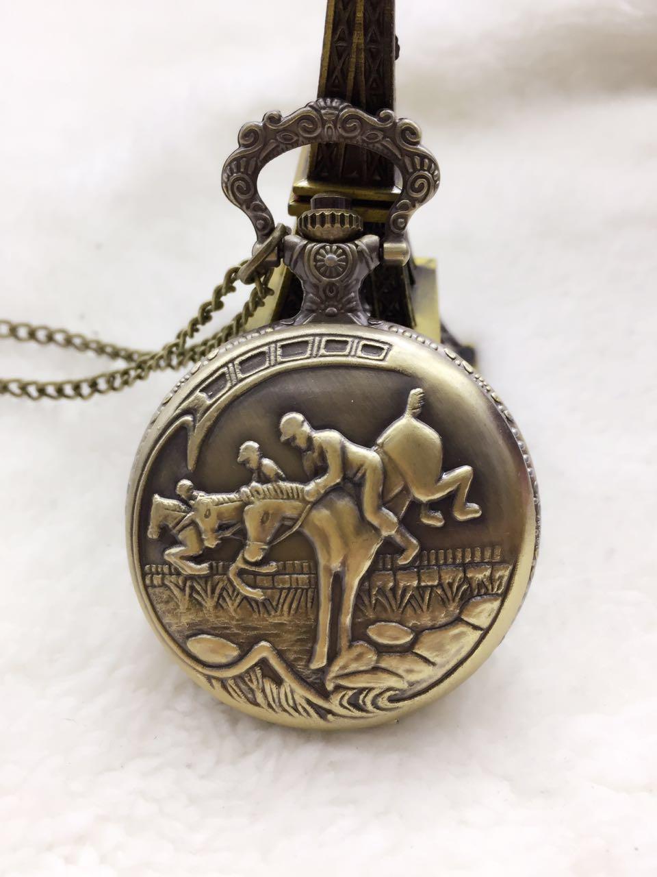 Кварцевые карманные часы Vantique Bonze Horse