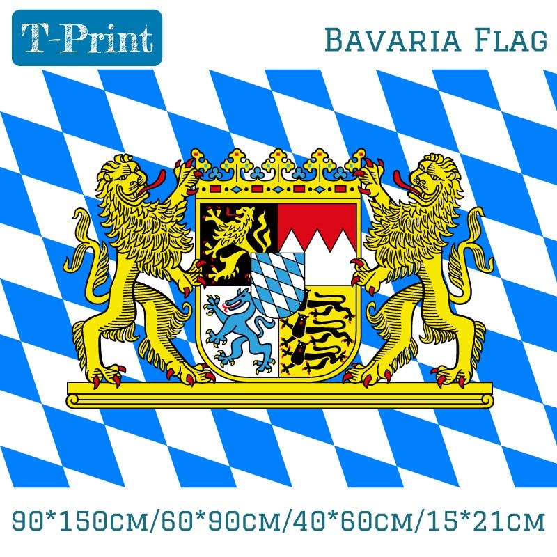 90x150cm, 60x90cm, 40x60cm, 15x21cm, bandera alemana de Baviera