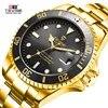 Tevise למעלה מותג גברים שעונים מכאניים אוטומטי עסקי נירוסטה שעונים Fashione יוקרה זהב שעון Relogio Masculino