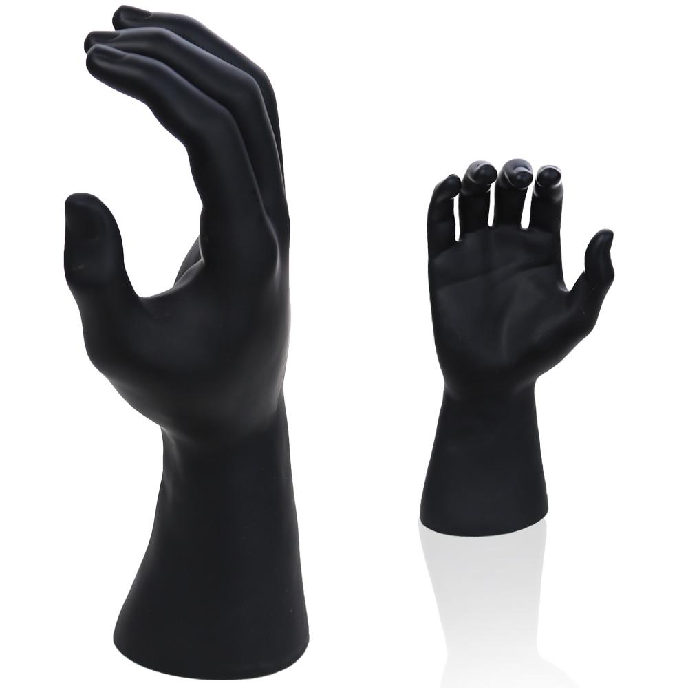 Rechts Männliche Schaufensterpuppe Hand mit Schwarz FARBE für Handschuh