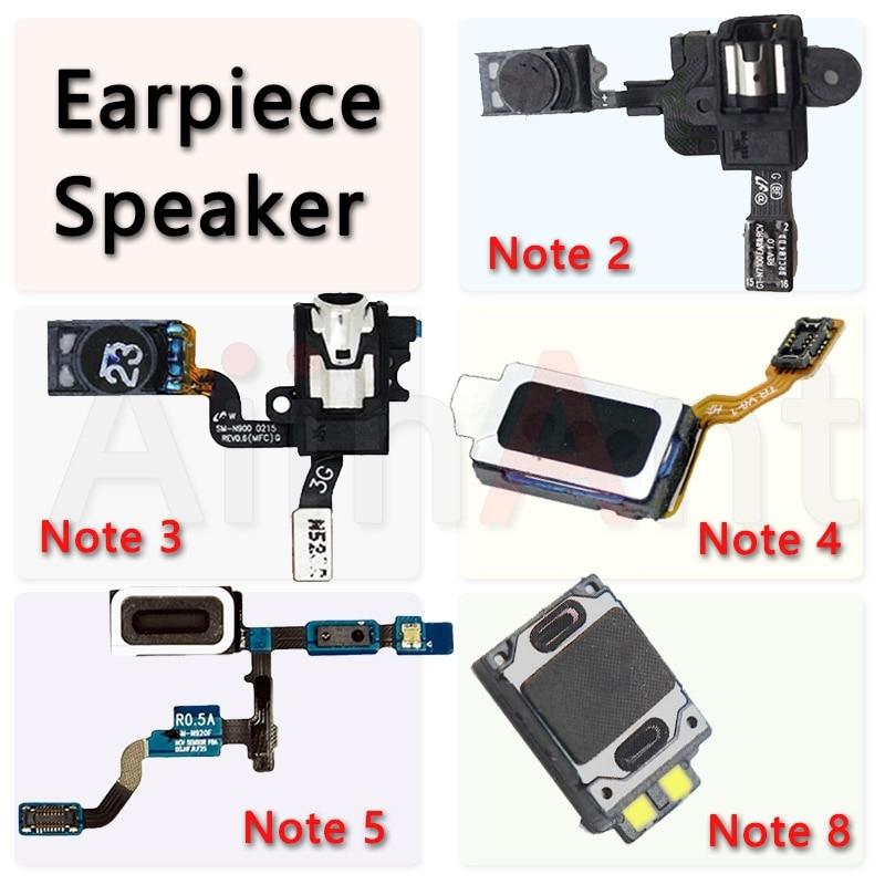 Original For Samsung Galaxy Note 2 3 4 5 8 9 N910C N900 N920F Ear Earphone Headphone Receiver Sound Earpiece Speaker Flex Cable