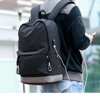 повседневные Повседневная большой Ёмкость школьный рюкзак для мальчика Подростка черный высокой школьные сумки для подростков для мальчи...