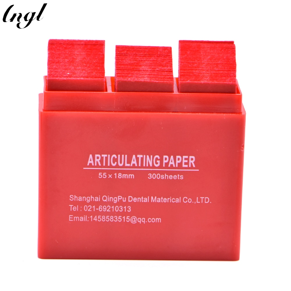 300 Sheet / Box Dental Red Articulating Paper Strips Dentistry Lab Material Oral Teeth Whitening Material 55*18mm Dental Tools