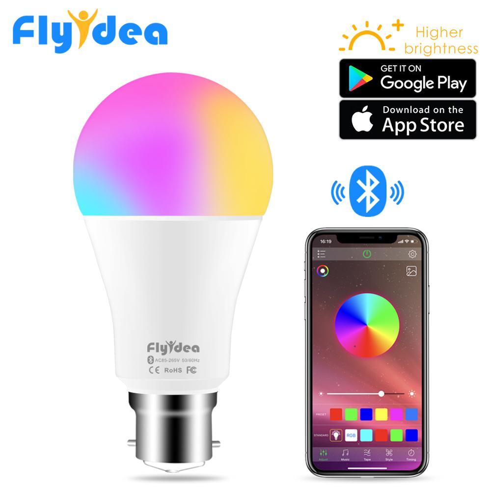 Inteligente Bluetooth, inalámbrico, LED, bombilla de luz B22 10 W RGB luces cambiantes de Color ajustable AC 85-265 V APP control de IOS/Android Lampada