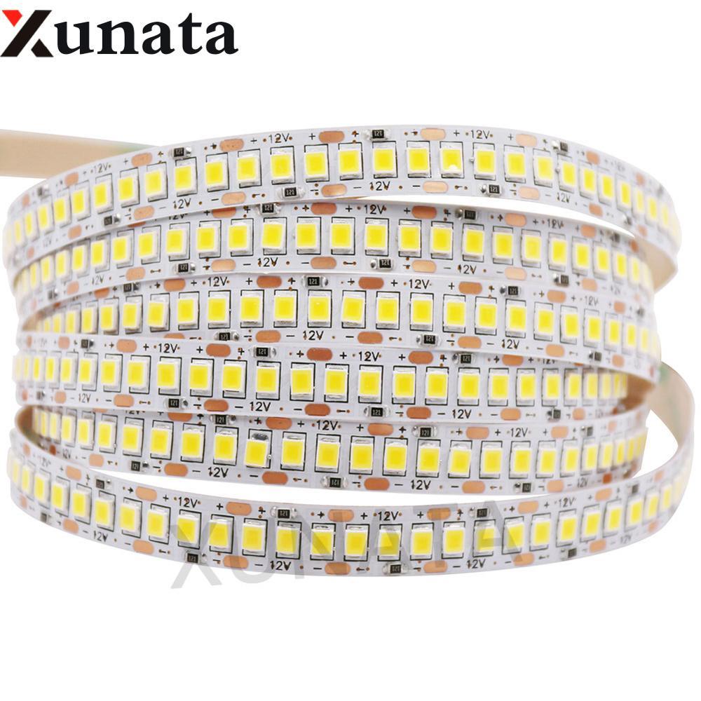 Суперъяркая Светодиодная лента 2835, 1200 светодиодов, светодиодсветильник ты 5 м, 12 В постоянного тока, неводонепроницаемая Светодиодная лента 24 В, 240 светодиодов/м, неоновая лента для украшения дома