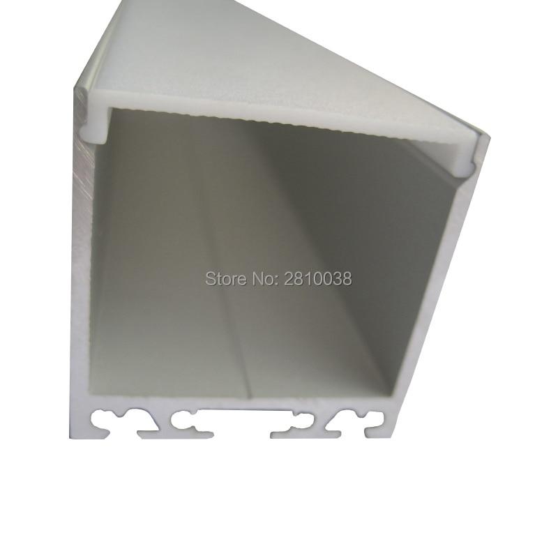 100 x 2M Sets/Lot U-shape extruded aluminum profile led and square size aluminium led housing channels for ceiling lights