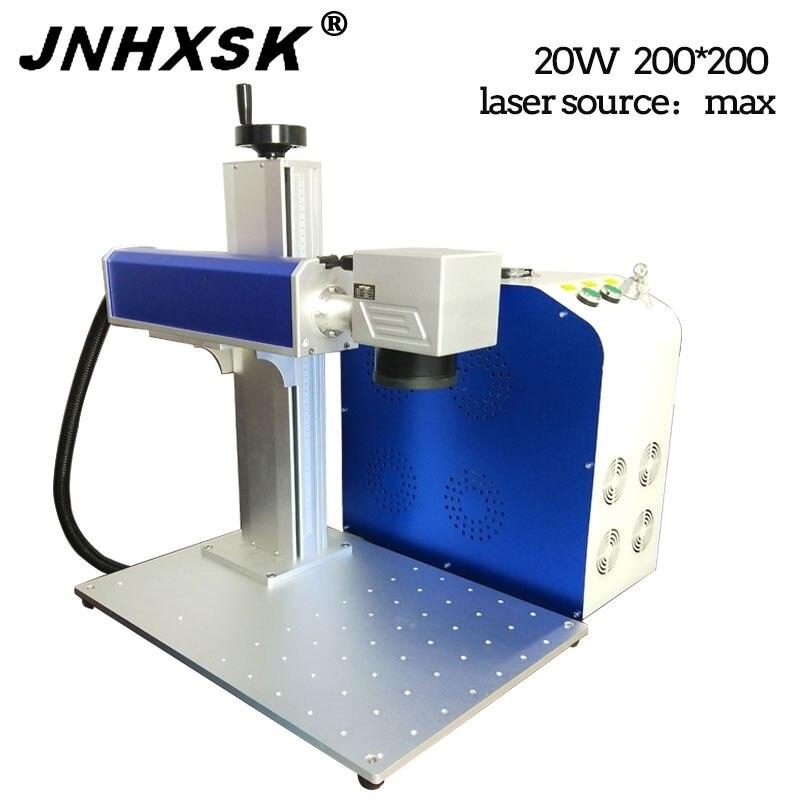 JNHXSK 20W Split Larse máquina de marcado 200*200mm DIY perro Etiqueta número de casa placa de identificación etc máquina de marcado de Metal Máquina Láser de Cnc