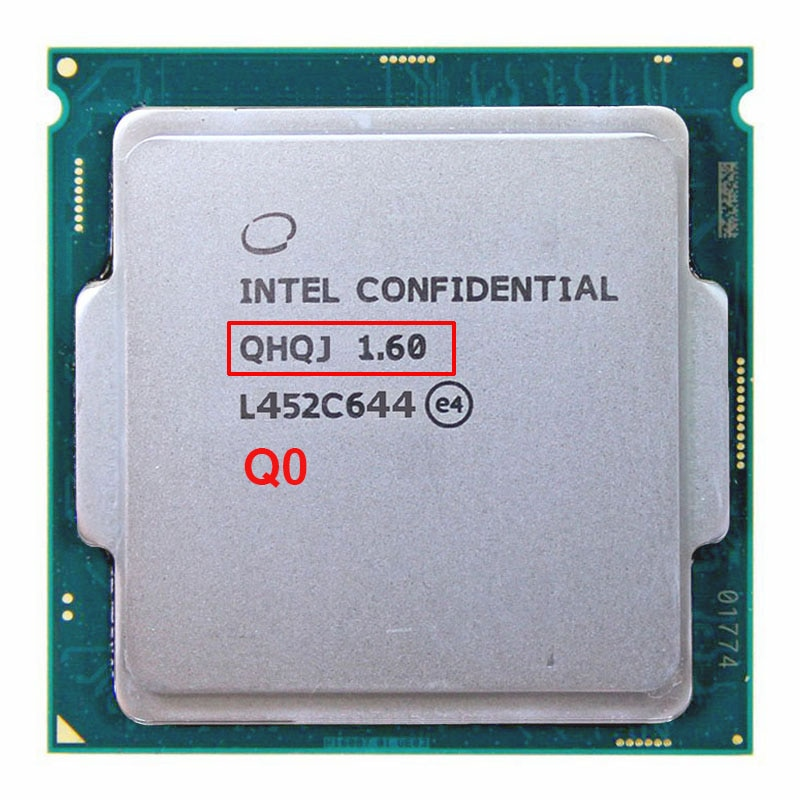 Инженерный образец процессора intel core i7 QHQJ, 6400 T, графический процессор SKYLAKE AS QHQG, HD530, 1,6G, 4 ядра, 8 потоков