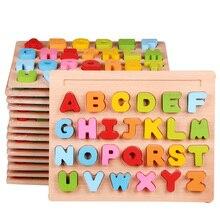 30cm criança cedo educacional brinquedos de mão do bebê agarrar quebra-cabeça de madeira brinquedos alfabeto dígito aprendizagem educação criança brinquedo de madeira