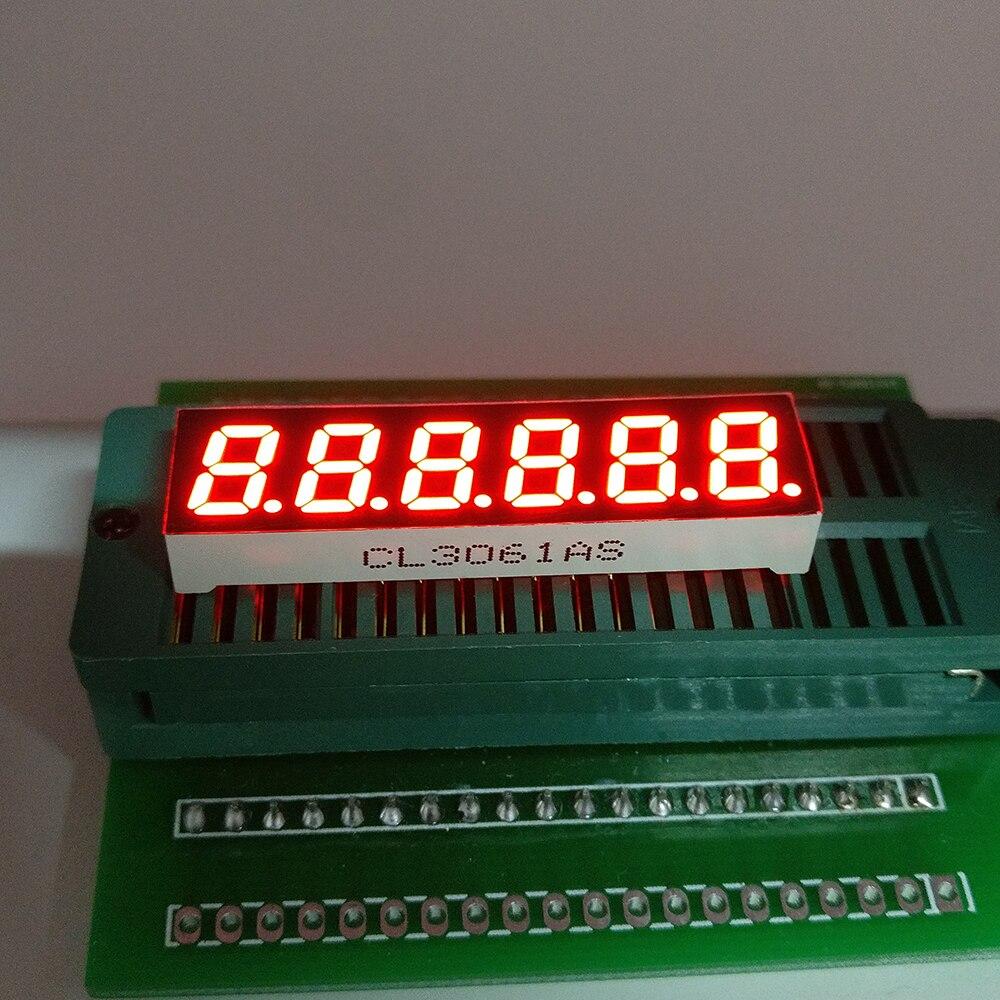 10 PCS Novo e original de 6 Bits 0.3 polegada Tubo Digital Display LED red Light 7 Segmentos Catodo Comum/ânodo