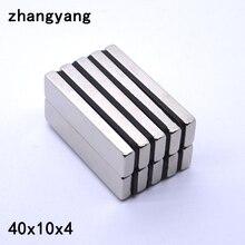 Imanes magnétiques permanents   2/5/10/20-50 pièces 40x10x4 40mm x 10mm x 4mm N35 NdFeB rond, Super puissants