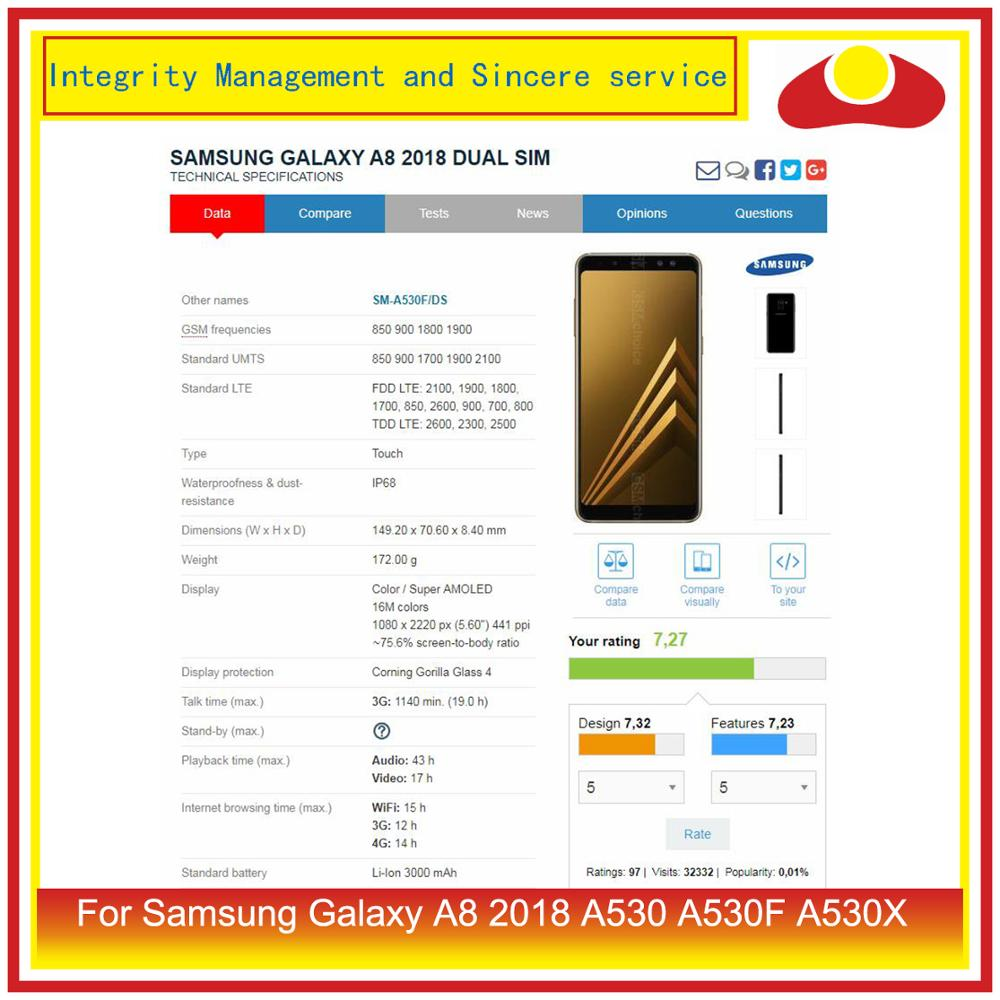 ORIGINAL For Samsung Galaxy A8 2018 A530 A530F A530X SM-A530F/DS LCD Display With Touch Screen Digitizer Panel Pantalla Complete enlarge