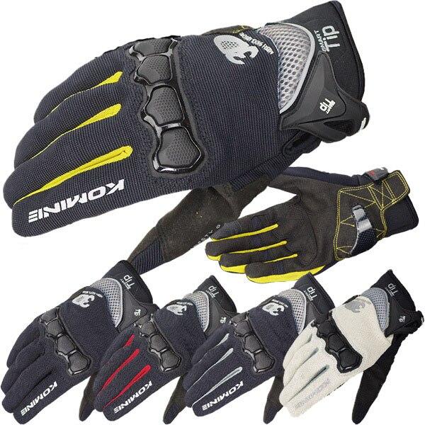 Envío Gratis, guantes de moto KOMINE GK-162, protección 3D, malla de aire, guantes deportivos para carreras, ciclismo, pantalla táctil
