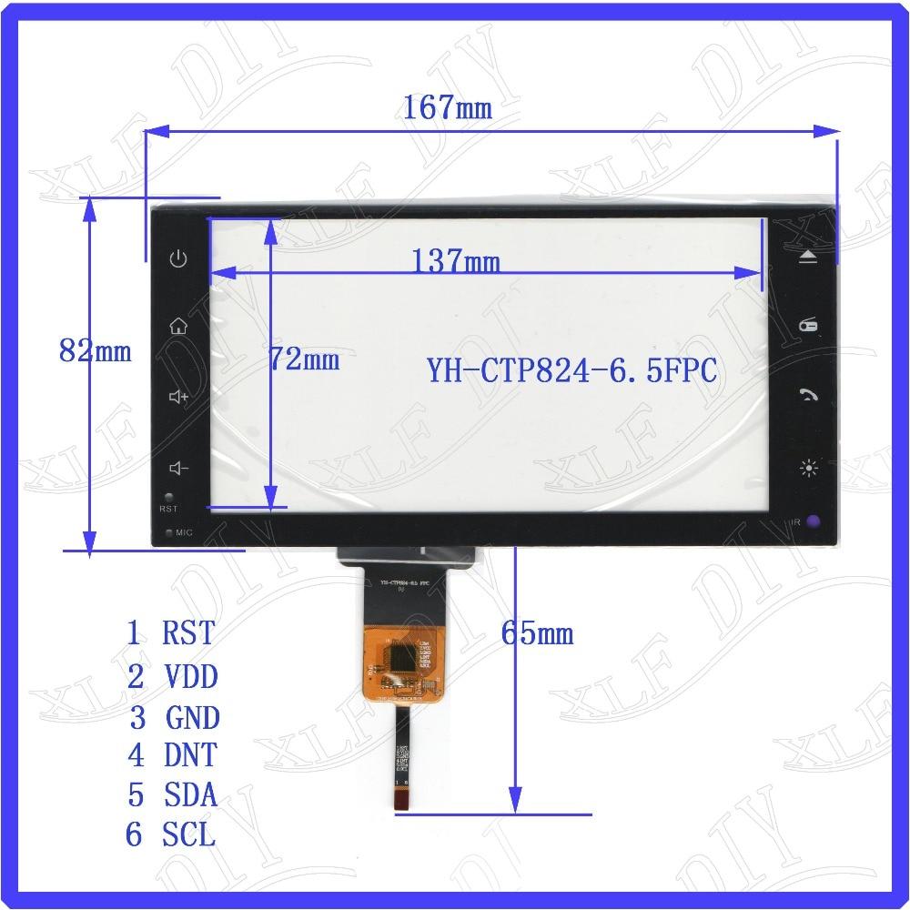 ZhiYuSun Freeshipping YH-CTP8246 167*82 compatível 6.5 polegada tela Capacitiva de vidro Para GPS DO CARRO 167mm * 82mm GT911