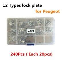 240 stücke VA2T Auto Lock Reed Schloss Platte Schlosser Werkzeuge für Peugeot Auto Lock Core Schlüssel Reparatur Zubehör sperren reparatur