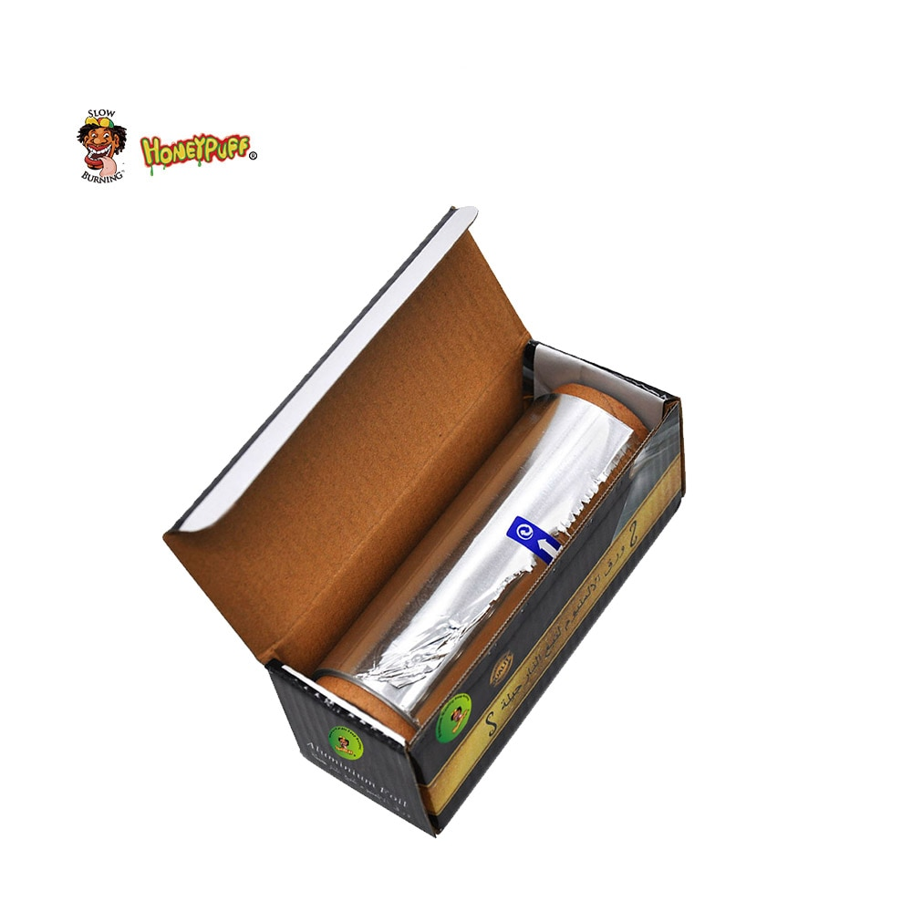 HONEYPUFF 1 caja Rectangular Cachimba de aluminio papel de aluminio diámetro 140 MM/espesor 0,03 MM agujeros Hookah Shisha Chicha carbón Bol