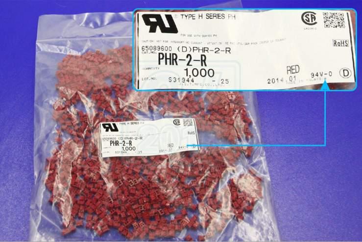 PHR-2-R الأحمر اللون العلب موصلات محطات إيواء 100% جديد أجزاء