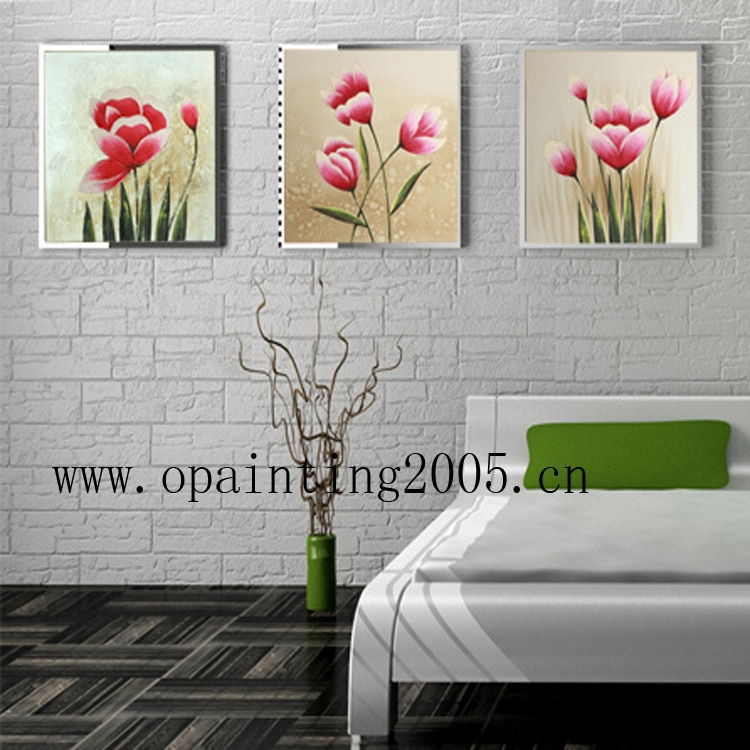 Dipinta a mano Moderna Bianco Foto Su Tela Fiori Pittura A Olio Handmade Della Parete di Arte Calligrafia Pittura Gruppo Di Hang Immagini