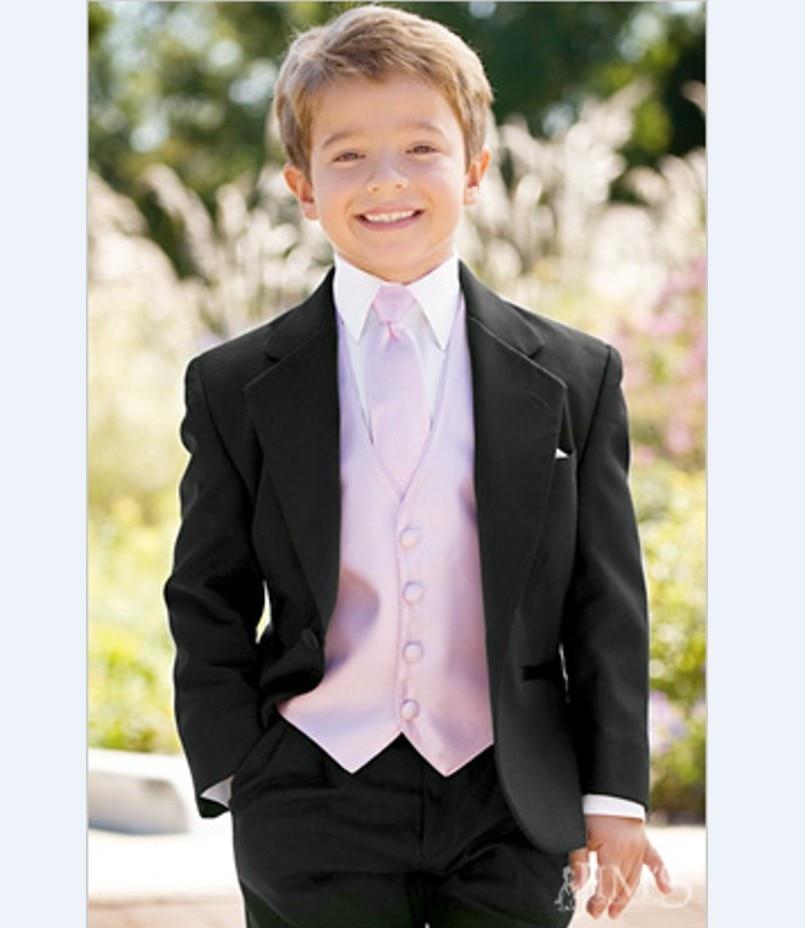De niño trajes muesca solapa traje de niños 22 estilos chico boda/baile trajes chaqueta + chaleco + pantalones + corbata + camisa) NH6