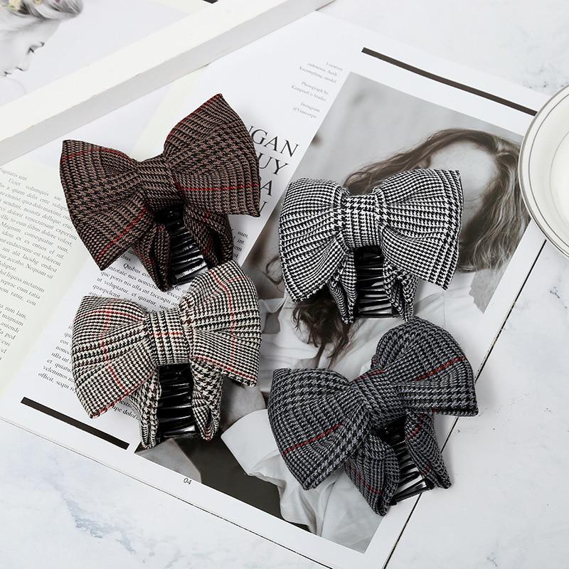 Nueva versión coreana de la tendencia accesorios para el cabello agarre clip tela lazo entramado horquilla pata de gallo accesorios para el cabello