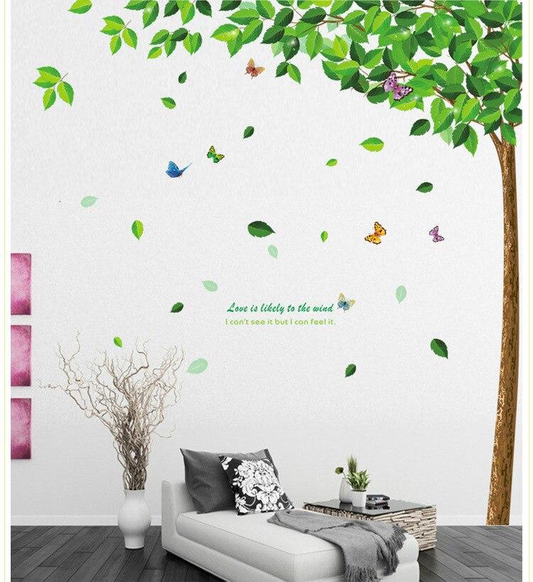 Venta de pegatinas de pared de árbol simple xl, decoración del hogar, mural artístico de manualidades para sala de estar, pegatinas de pvc extraíbles para Decoración